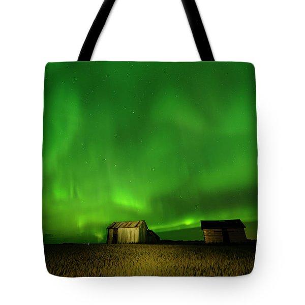 Electric Green Skies Tote Bag