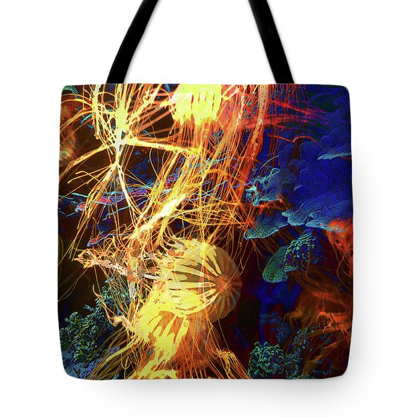 Electric Jellies Tote Bag by Robert Ball