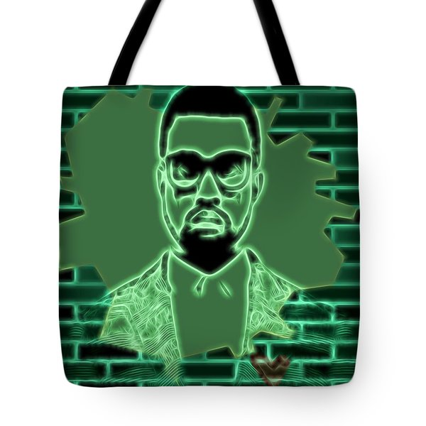 Electric Kanye West Graphic Tote Bag
