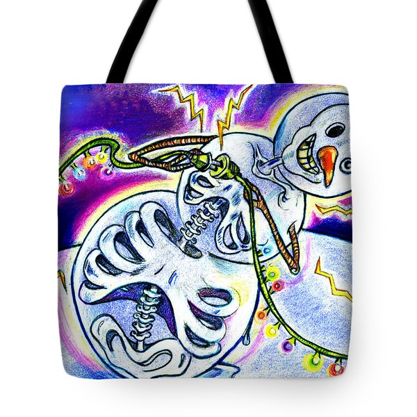 Electric Lights On Strings Tote Bag