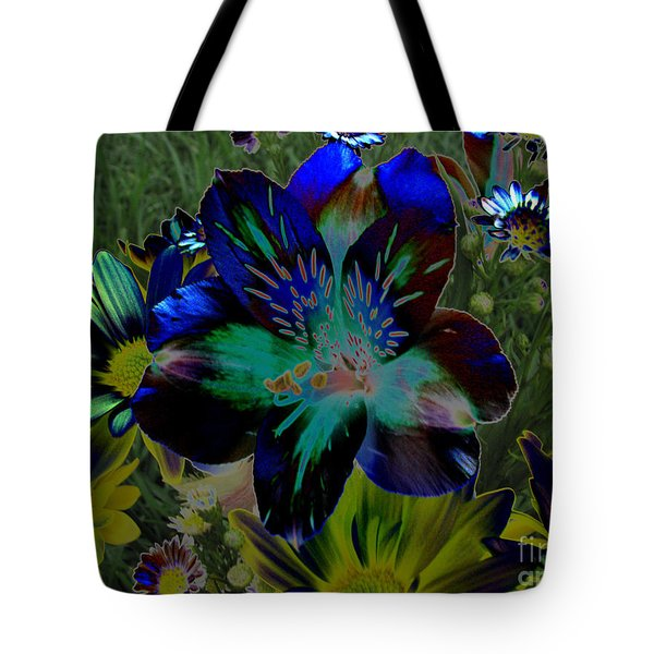 Tote Bag featuring the photograph Electric Lily by Greg Patzer