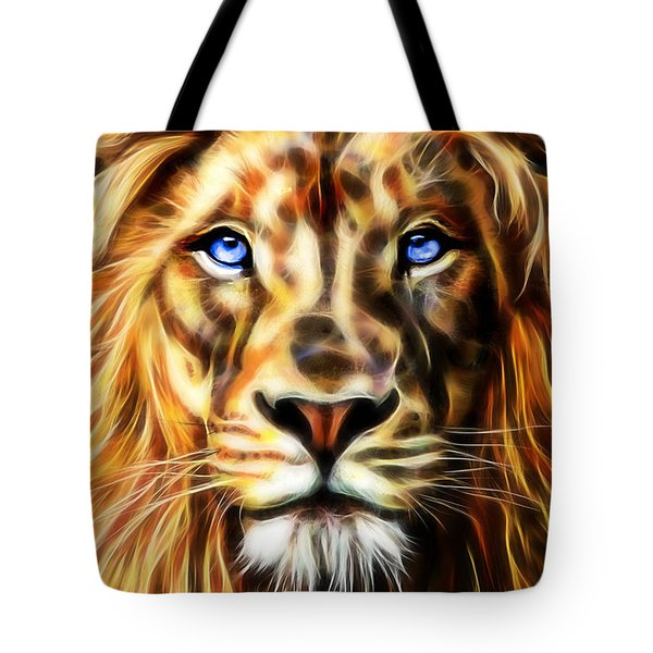 Electric Lion Wall Art Collection Tote Bag by Marvin Blaine