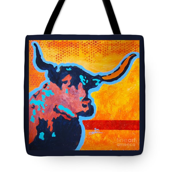 Electric Longhorn Tote Bag by Ron Stephens