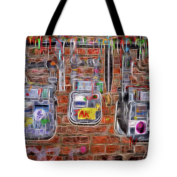 Electric Meters Tote Bag by Spencer McDonald