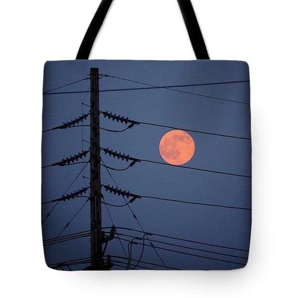 Electric Moon Tote Bag by Richard Reeve