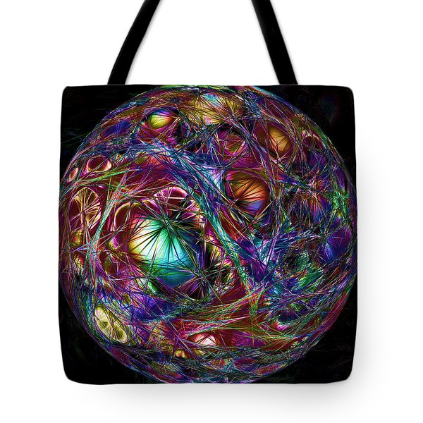 Electric Neon Abstract Tote Bag