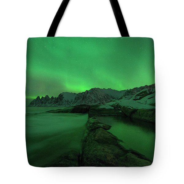 Tote Bag featuring the photograph Electric Night by Alex Lapidus
