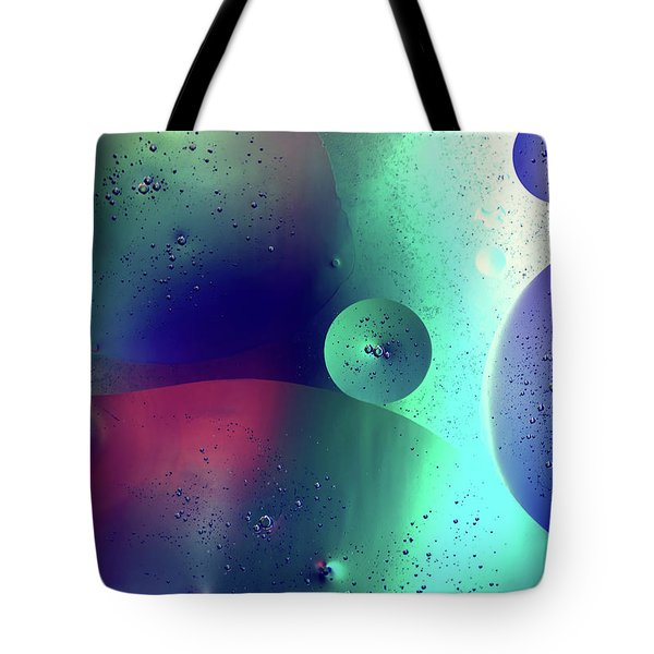 Tote Bag featuring the photograph Electric Oil Droplets Number One by John Williams