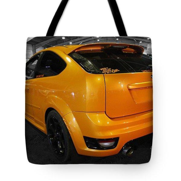 Electric Orange Tote Bag by Vicki Spindler