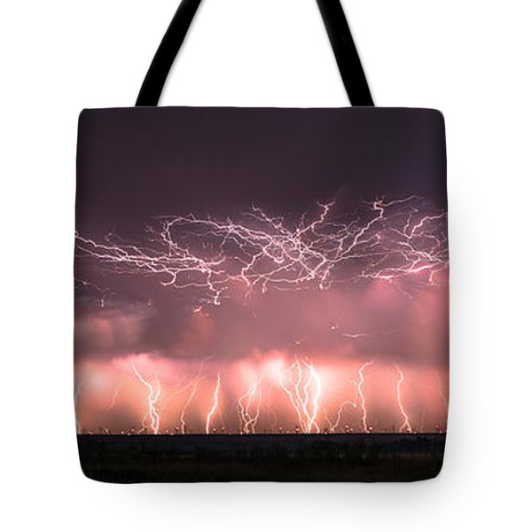 Electric Panoramic Tote Bag