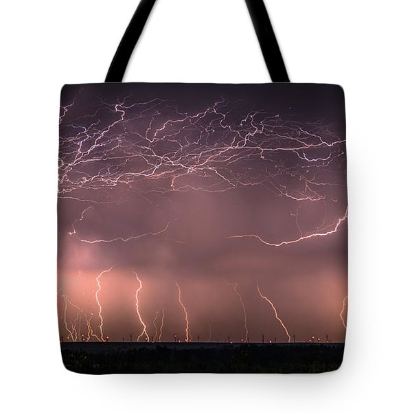 Electric Panoramic V Tote Bag
