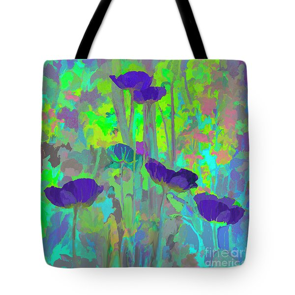 Electric Poppies Tote Bag