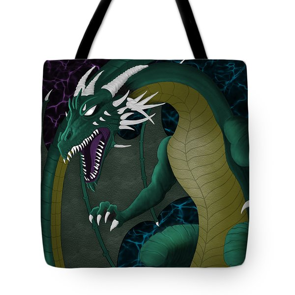 Electric Portal Dragon Tote Bag