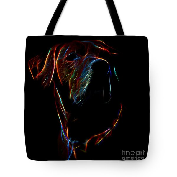 Electric Ridgeback Tote Bag by Mim White