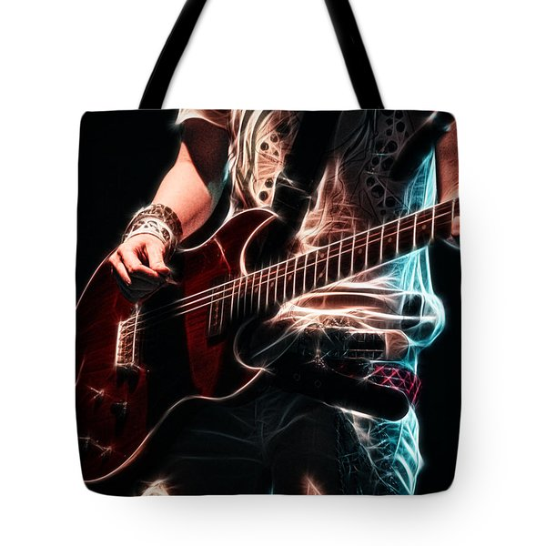 Electric Rock Tote Bag
