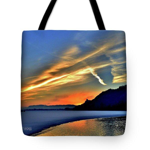 Electric Sunrise Tote Bag