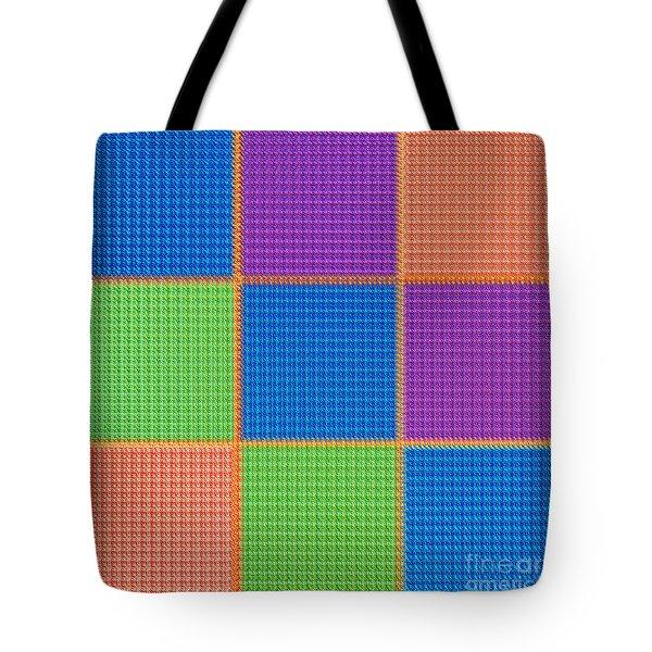 Electric Tartan Tote Bag