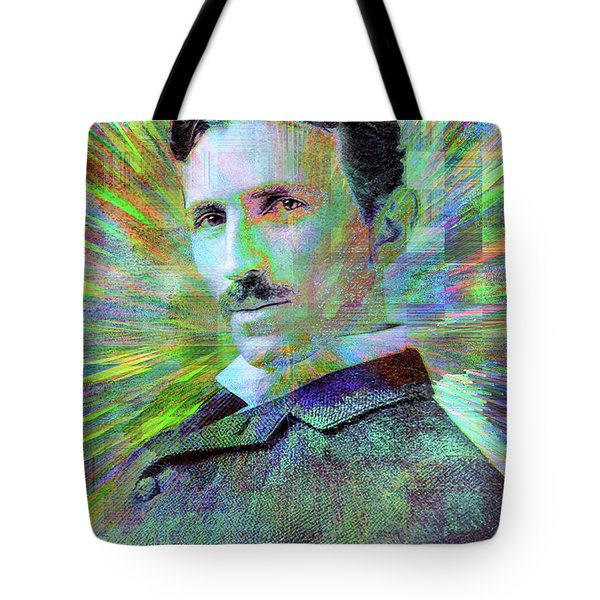 Electric Tesla Tote Bag