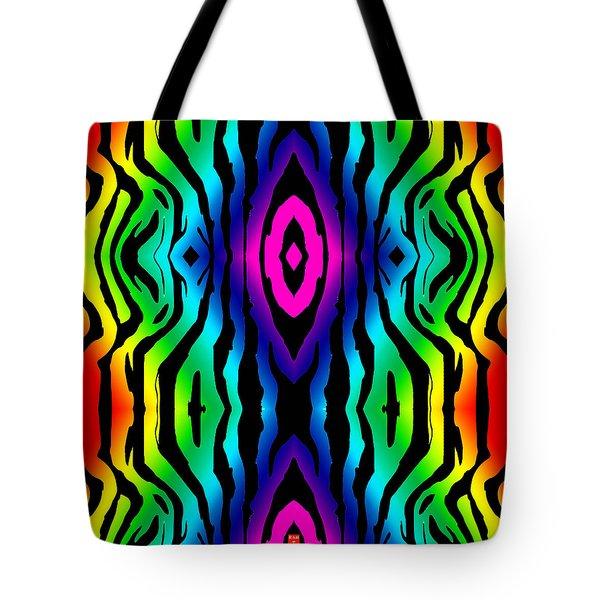 Electric Zebra Black Tote Bag