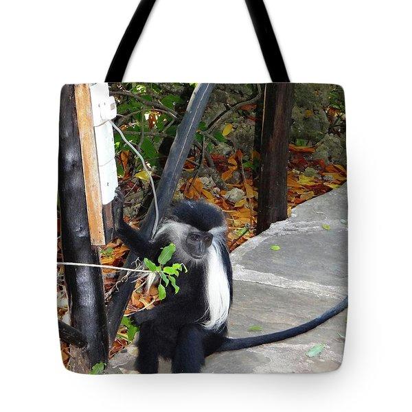 Electrical Work - Monkey Power Tote Bag