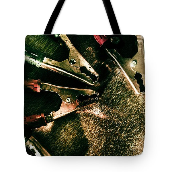 Electrical Workshop Leads Tote Bag