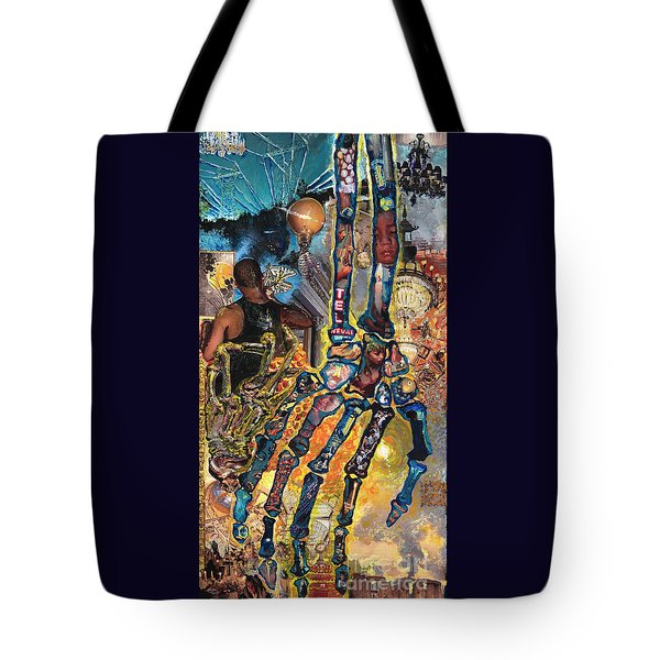Electricity Hand La Mano Poderosa Tote Bag by Emily McLaughlin