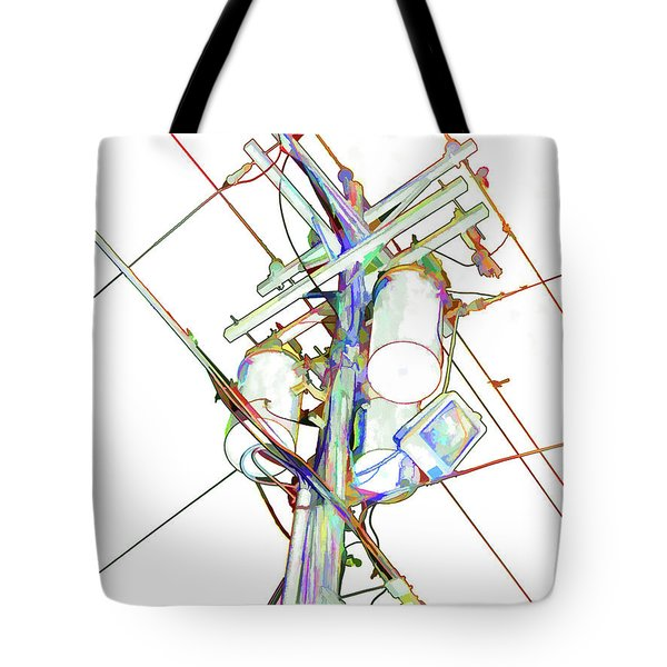 Electricity Post  Tote Bag