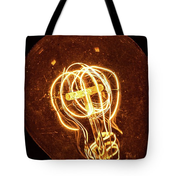 Electricity Through Tungsten Tote Bag