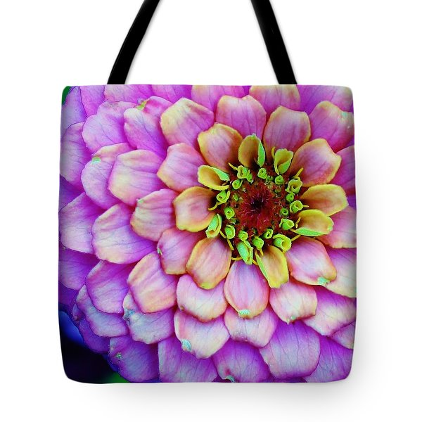 Electrifying Zinna Tote Bag by Bruce Bley