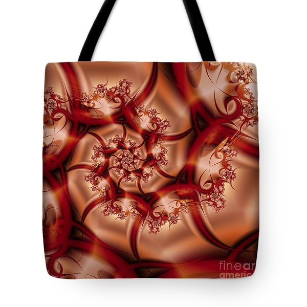 Tote Bag featuring the digital art Elegance by Michelle H