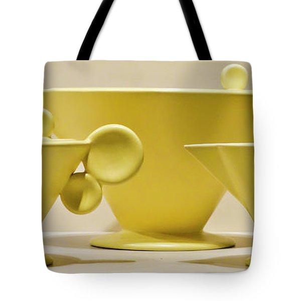 Elegant 1950s Ceramic Cups Tote Bag