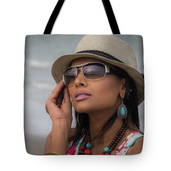 Elegant Beach Fashion Tote Bag