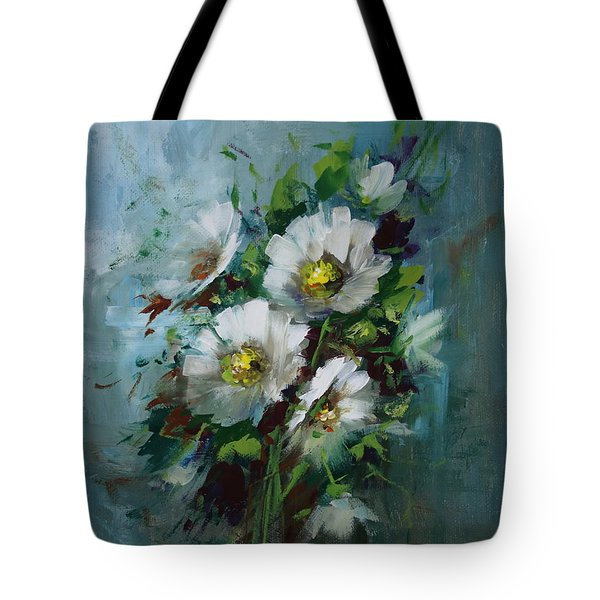 Elegant Blossoms Tote Bag by David Jansen