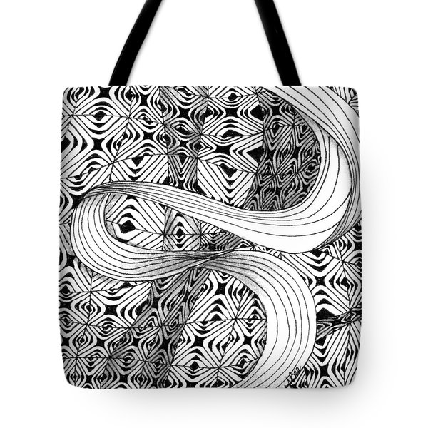 Tote Bag featuring the drawing Elegant Disturbance by Jan Steinle