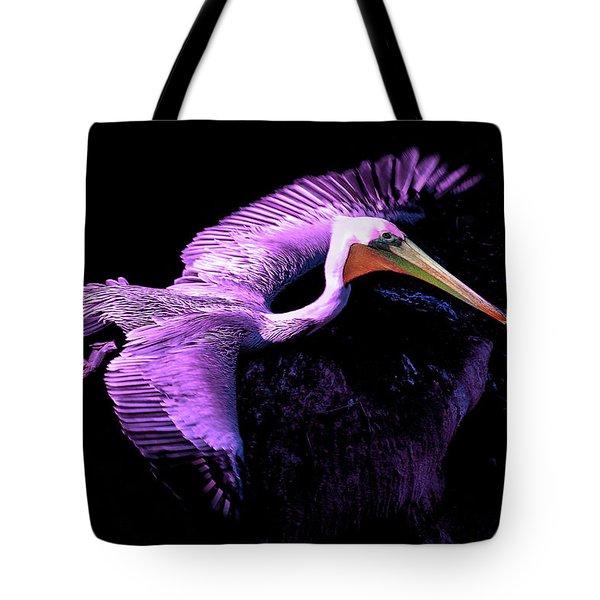Elegant Flight In Violet Tote Bag