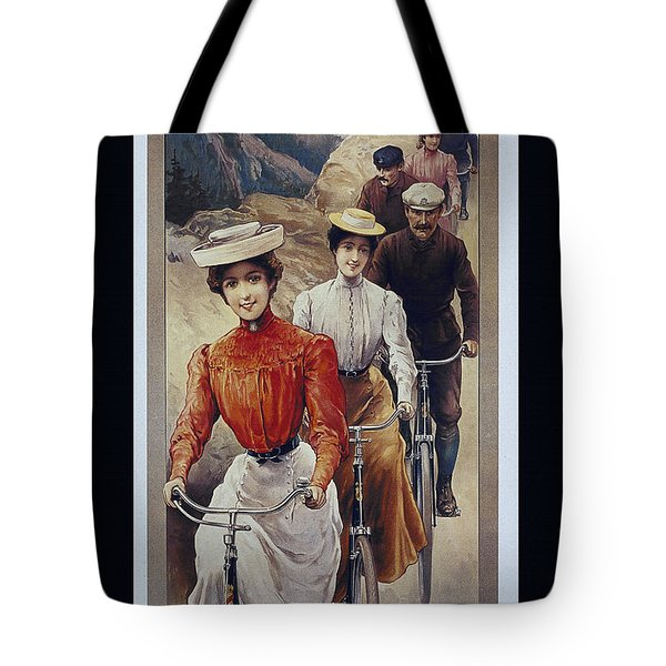 Elegant Fongers Vintage Stylish Cycle Poster Tote Bag by R Muirhead Art