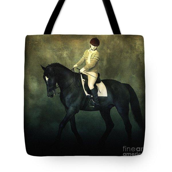Elegant Horse Rider Tote Bag