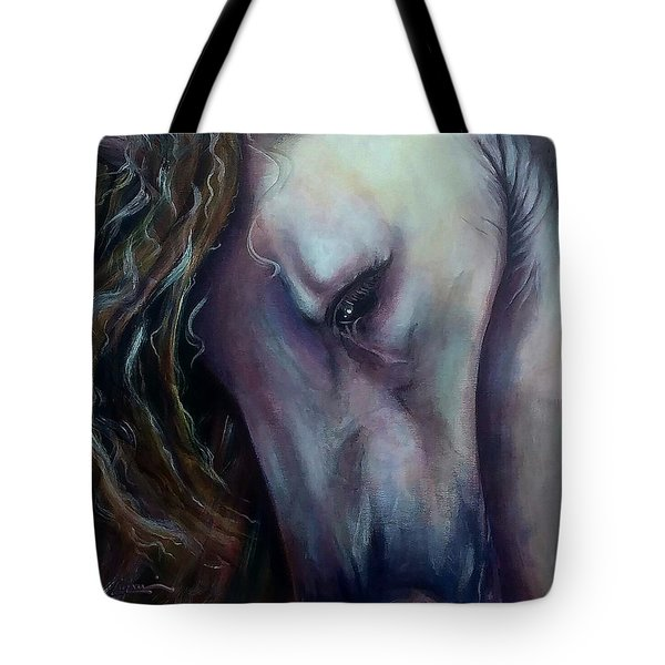 Tote Bag featuring the painting Elegant Lady by Thomas Lupari