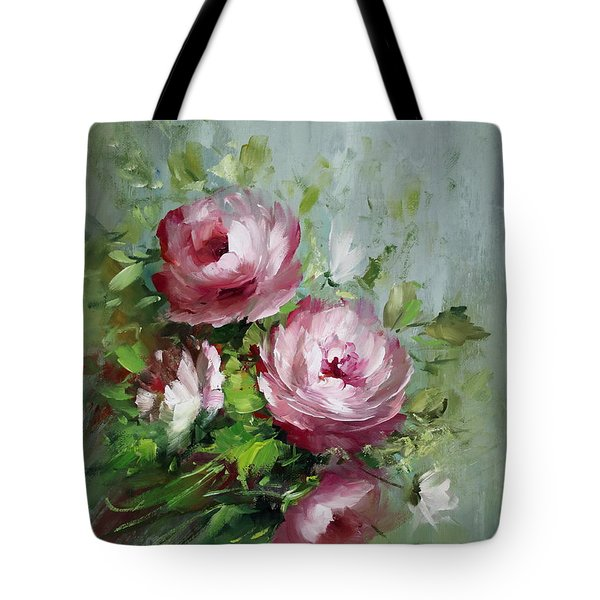 Elegant Roses Tote Bag by David Jansen