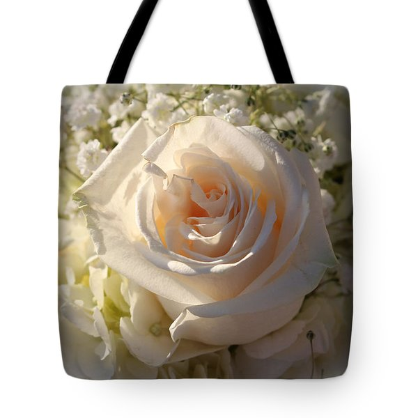 Elegant White Roses Tote Bag
