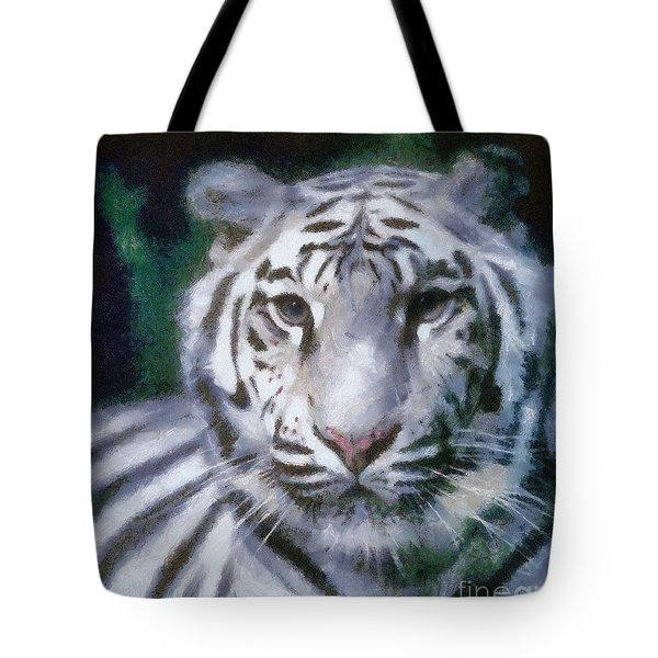 Elegant White Tiger Tote Bag