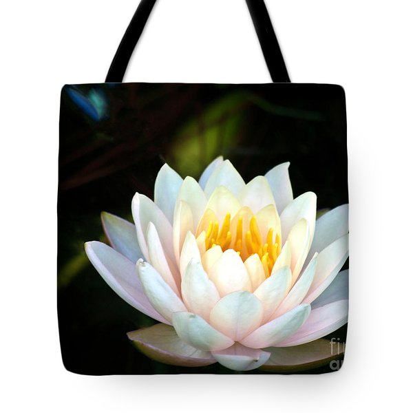 Elegant White Water Lily Tote Bag