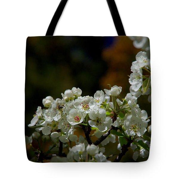 Elegantly White Tote Bag by Vicki Pelham