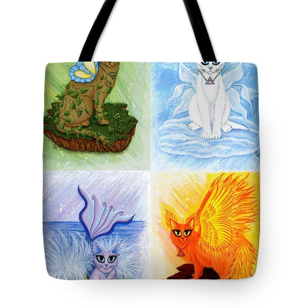 Elemental Cats Tote Bag