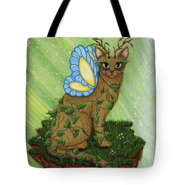 Elemental Earth Fairy Cat Tote Bag