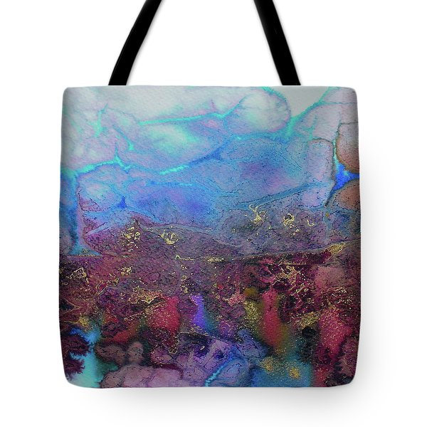 Tote Bag featuring the painting Elemental by Mary Sullivan