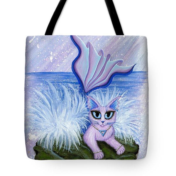 Elemental Water Mermaid Cat Tote Bag