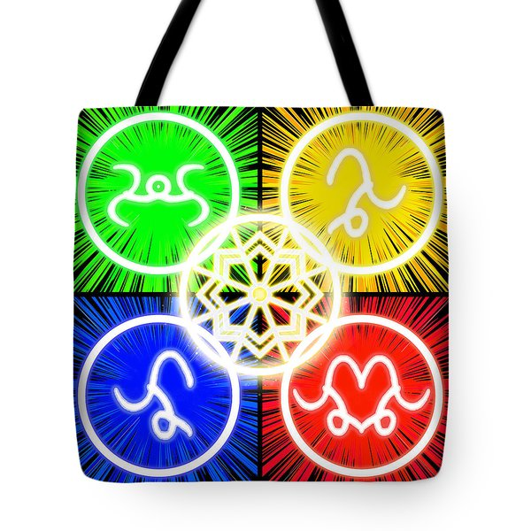 Tote Bag featuring the digital art Elements Of Consciousness by Shawn Dall