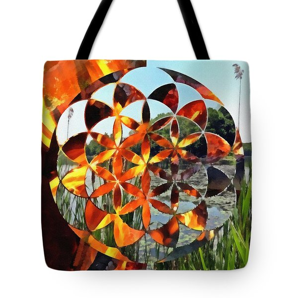 Tote Bag featuring the digital art Elements Of Life by Derek Gedney