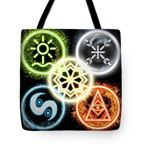 Tote Bag featuring the digital art Elements Of Nature by Shawn Dall